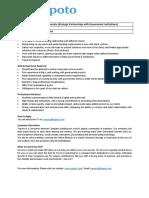 Job Description - BD Strategic & Partnerships