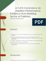 Impact of E-Commerce on Organization Performance