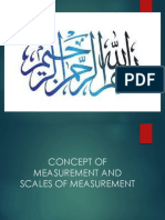Concept of Measurement and Scales of Measurement.