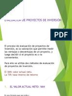 Evaluacion de Proyeto de Inversion