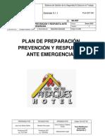 1 PLA SST 001 Plan de Preparación Prevención y Respuesta Ante Emergencias ALTO de LOS ANDAQUIES