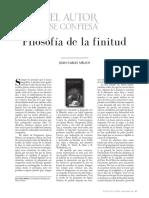 Filosofía de La Finitud Por Joan Carles Mèlich 1080473