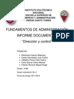 Informe administración