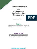 S2_El Presupuesto, Clasificación y Ciclo Presupuestario