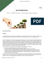 Derecho Ecuador - Microempresa