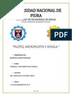 Trabajo Tuneles (Pilotes - Micropilotes y Dovela)