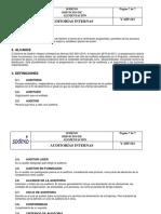 Evidencia 5 Procedimiento de Auditorias Internas