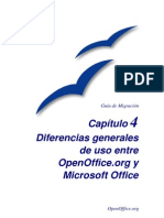 Diferencias Entre Open Office y MSOffice
