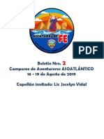 2do Boletín Aventureros 2019