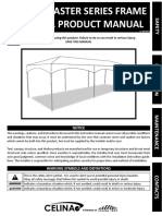 C07Y10X30 10 x 30 Master Series Frame Tent 1 Pc Manual
