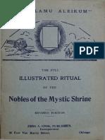 (1921) Mystic Shrine Ritual - Ea Cook
