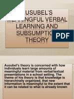 Final Slides Ausubels Theory