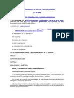 ley de democratizacion del libro peru