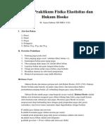 Laporan Praktikum Fisika Elastisitas Dan Hukum Hooke