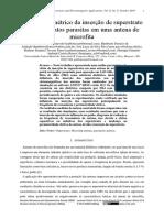 Estudo Paramétrico Da Inserção de Superstrato Com Elementos Parasitas Em Uma Antena de Microfita