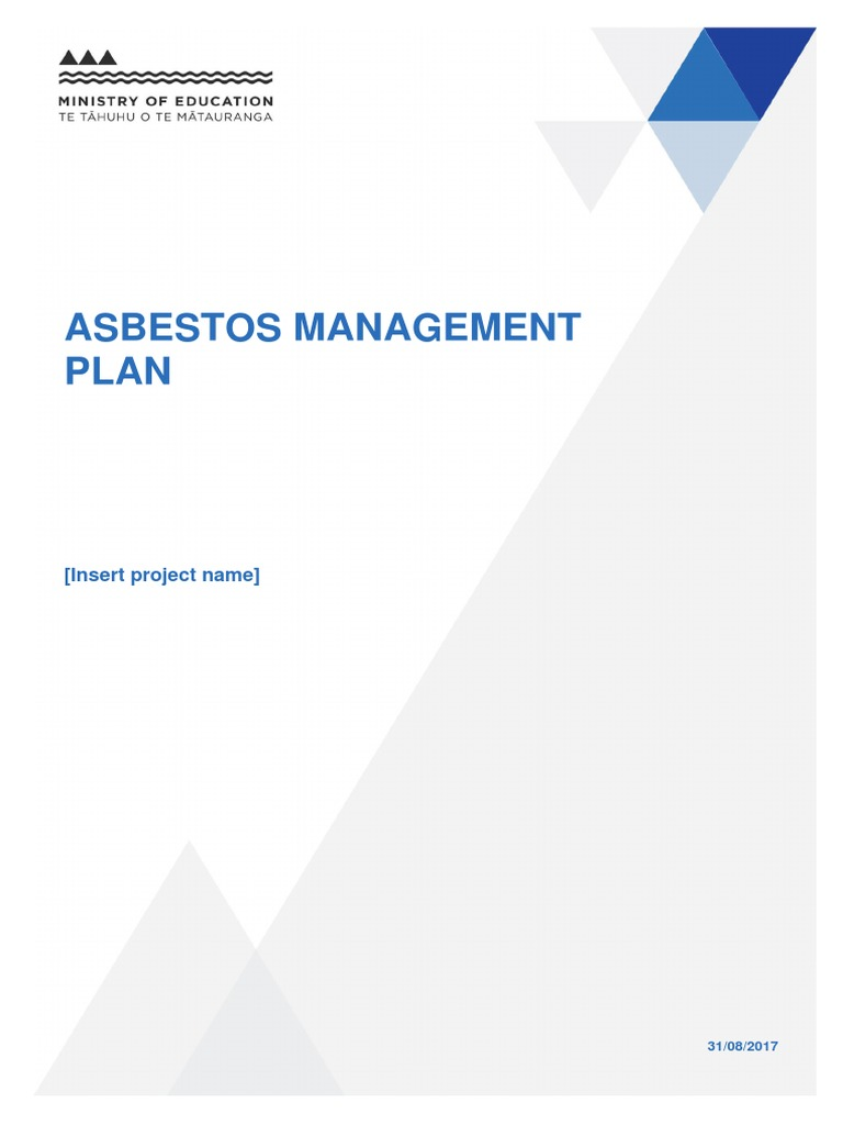asbestos template asbestos management plan asbestos. Black Bedroom Furniture Sets. Home Design Ideas