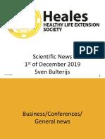 Scientific News 1st of December 2019