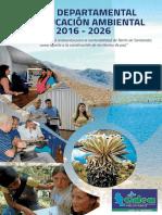 Plan Departamenta Educacion Ambienta 2016 2026
