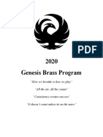 Genesis Brass Book 2020