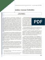 Cristaloides Versus Coloides