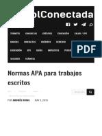 Normas APA Para Trabajos Escritos Plantilla y Ejemplos 2019