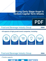 Nutter Food and Beverage Term Sheets Materials