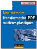 Aide-memoire - Transformation Des Matieres Plastiques