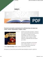 ▷ Los Diferentes Tipos de Ensayo_ Presentación, Características...