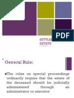 Settlement of Estate