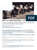 A 'cure' for sleep deprivation?