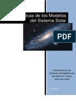 Características de Los Modelos Del Sistema Solar