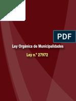 Ley Orgánica de Municipalidades Ley n.° 27972 Peru
