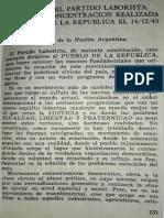 Proclama - Programa Partido Laborista