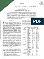 Radiation Dosimetry on the Gemini and Apollo Missions