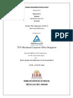 Internship Report Tuv