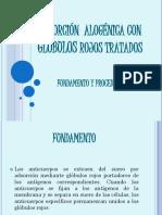 adsorcion alogenica