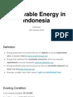 Renewable Energy Indo