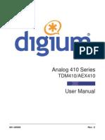 Analog Series Manual