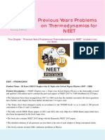 Disha Publication Previous Years Problems on Thermodynamics for NEET. CB1198675309