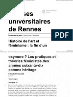 Pratiques et Théories féministes