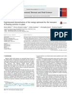 Experimental Determination of the Energy Optimum for the Transportof Floating Particles in Pipes_Edelin_2015