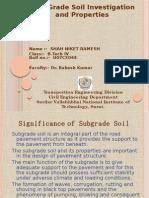 Sub Grade Soil Investigation