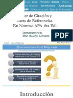 Presentación - Citación y Lista de Referencias  En Normas APA  6ta Ed..pdf