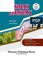 Index of Indian economy book by Mishra and puri