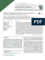 Calibration Og Hargreaves Model