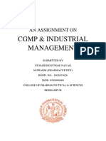 ASSIGNMENT ON CGMP