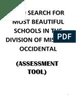 Assessment Tool Most Beautiful School