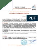 Feu du Mont-Dore, point de situation du 1er décembre