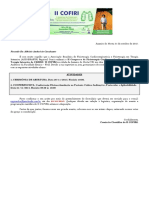 Carta Convite Modelo