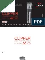 Manual de Instrucciones Gc565